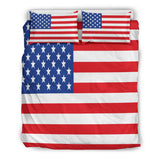 USA Flag Duvet Cover Set (Design #1) - FREE SHIPPING