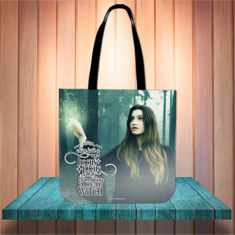 Real Witch Halloween Trick Or Treat Cloth Tote Goody Bag