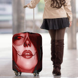 Calavera Fresh Look Design #3 Luggage Cover (Red Garnet) - FREE SHIPPING