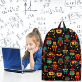 Retro Robots Backpack (Midnight Blue) - FREE SHIPPING