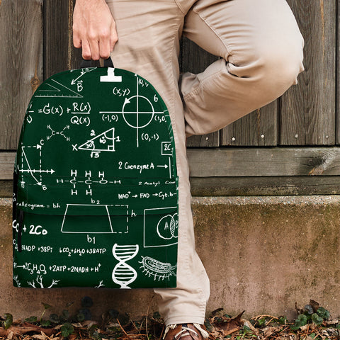 Science Chalkboard Backpack Design #2 - FREE SHIPPING