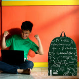 Science Chalkboard Backpack Design #3 - FREE SHIPPING