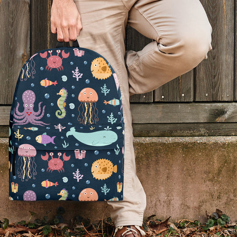 Sea Life Collection Backpack (Dark Blue) - FREE SHIPPING