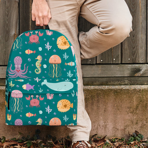 Sea Life Collection Backpack (Teal) - FREE SHIPPING