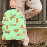 Wildlife Collection - Lazy Sloths (Light Green) Backpack - FREE SHIPPING