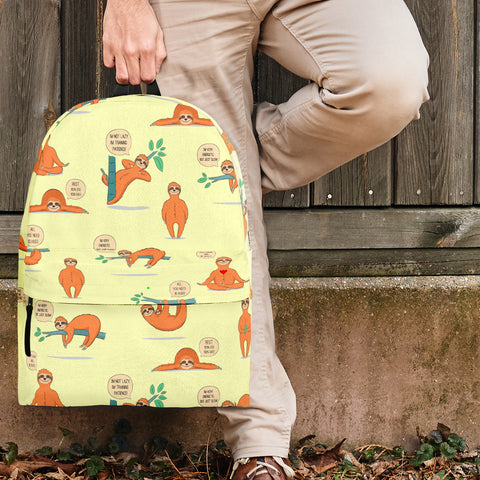 Wildlife Collection - Lazy Sloths (Light Yellow) Backpack - FREE SHIPPING