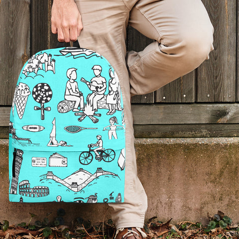 Summer Activities Backpack Design #2 - FREE SHIPPING