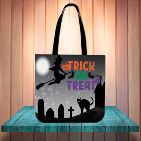 Trick Or Treat Design #2 Halloween Trick Or Treat Cloth Tote Goody Bag