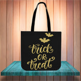 Trick Or Treat Design #1 Halloween Trick Or Treat Cloth Tote Goody Bag
