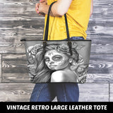 Calavera Fresh Look Design #2 Large Leather Tote Bag!