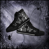 Calavera Fresh Look Design #2 Women's High Tops - Black Soles