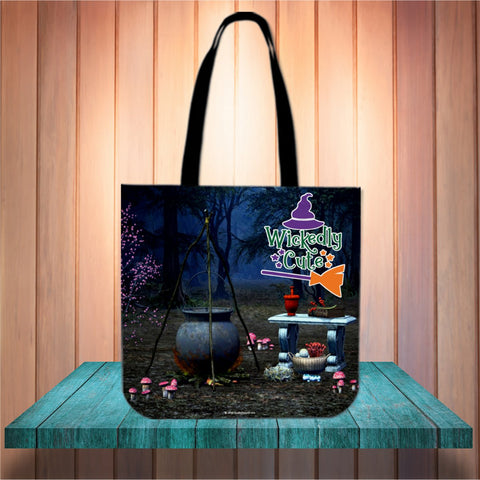 Wickedly Cute Halloween Trick Or Treat Cloth Tote Goody Bag