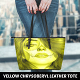 Calavera Fresh Look Design #3 Small Leather Tote Bag!