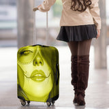 Calavera Fresh Look Design #3 Luggage Cover (Yellow Chrysoberyl) - FREE SHIPPING