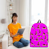 Yoga Dogs Backpack (Fuchsia) - FREE SHIPPING