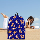 Yoga Foxes Backpack (Dark Blue) - FREE SHIPPING
