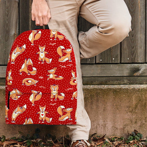 Yoga Foxes Backpack (Red) - FREE SHIPPING
