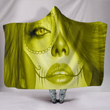 Calavera Fresh Look Design #3 Hooded Blanket (Yellow Chrysoberyl) - FREE SHIPPING
