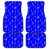 Musical Notes Design #1 (Blue) Car Floor Mats - FREE SHIPPING