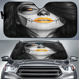Calavera Fresh Look Design #4 Auto Sun Shade (Orange) - FREE SHIPPING
