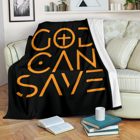 God Can Save Throw Blanket (Black) - FREE SHIPPING