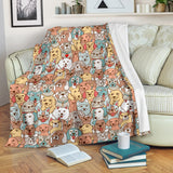 Crazy Dogs Collection Throw Blanket - FREE SHIPPING