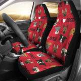 I Love Dogs Car Seat Covers (Red)  - FREE SHIPPING