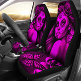 Calavera Fresh Look Design #2 Car Seat Covers (Pink Easy On The Eyes Rose) - FREE SHIPPING