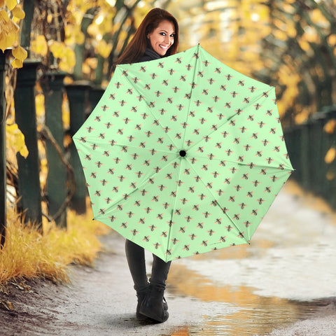 Honey Bees Design #1 (Light Green) Umbrella - FREE SHIPPING