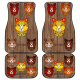 Fancy Pants Cat (Brown) Car Floor Mats (Front & Back) - FREE SHIPPING