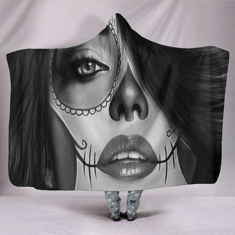 Calavera Fresh Look Design #4 Hooded Blanket (Vintage Retro) - FREE SHIPPING