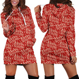 Ugly Christmas Sweater Hoodie Dress - Merry Christmas Design #1 (Red) - For Small To Plus Size Divas - FREE SHIPPING