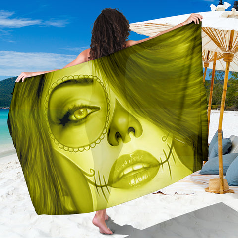 Calavera Fresh Look Design #3 Sarong (Yellow Chrysoberyl) - FREE SHIPPING