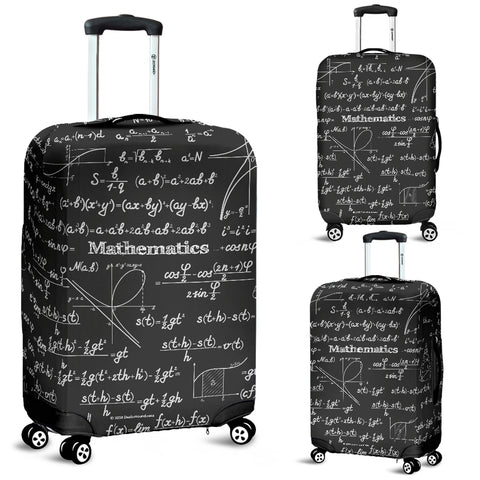 Mathematica Luggage Cover Design #2 Black Chalkboard - FREE SHIPPING