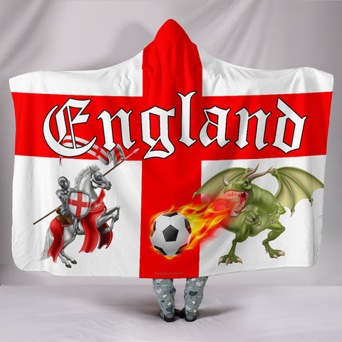England Soccer Fan Hooded Blanket - FREE SHIPPING