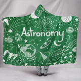 Astronomy Chalkboard Hooded Blanket Green - FREE SHIPPING