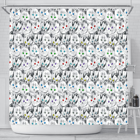 Cats Galore Shower Curtain - FREE SHIPPING