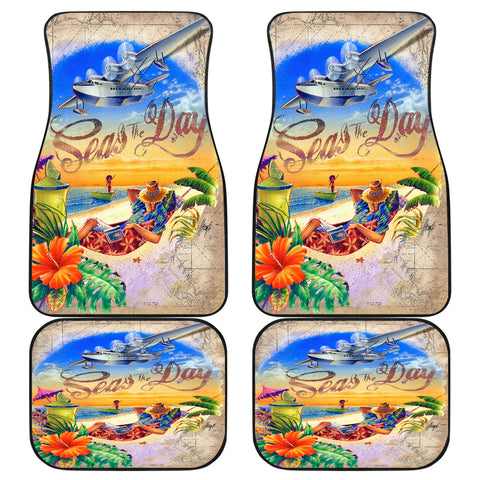 Jim Mazzotta Signature Line - Seas The Day - Car Floor Mats - FREE SHIPPING