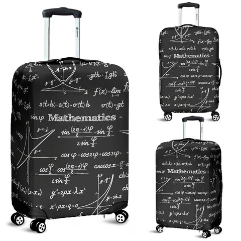 Mathematica Luggage Cover Design #1 Black Chalkboard - FREE SHIPPING