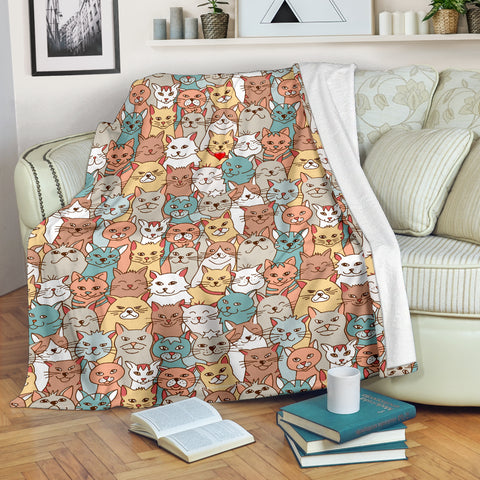 Crazy Cats Collection Throw Blanket - FREE SHIPPING