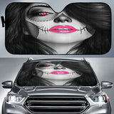 Calavera Fresh Look Design #4 Auto Sun Shade (Pink) - FREE SHIPPING