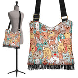 Crazy Dogs Collection Cross-Body Boho Handbag - FREE SHIPPING
