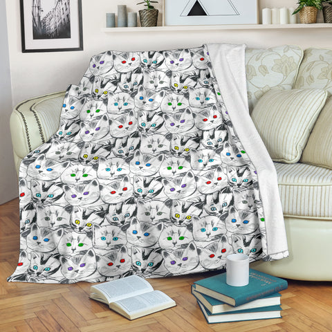 Cats Galore Throw Blanket - FREE SHIPPING
