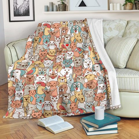Crazy Pets Collection Throw Blanket - FREE SHIPPING