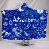 Astronomy Chalkboard Hooded Blanket Midnight Blue - FREE SHIPPING