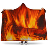 Log Fire Hooded Blanket - FREE SHIPPING
