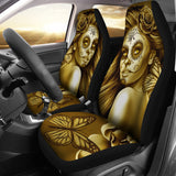 Calavera Fresh Look Design #2 Car Seat Covers (Hazel Sparkle & Shine Rose) - FREE SHIPPING