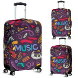 Musical Elements Design #2 Luggage Cover - FREE SHIPPING