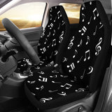 Musical Notes Design #1 (Black) Car Seat Covers - FREE SHIPPING