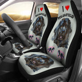 I Love Newfies Car Seat Covers - FREE SHIPPING